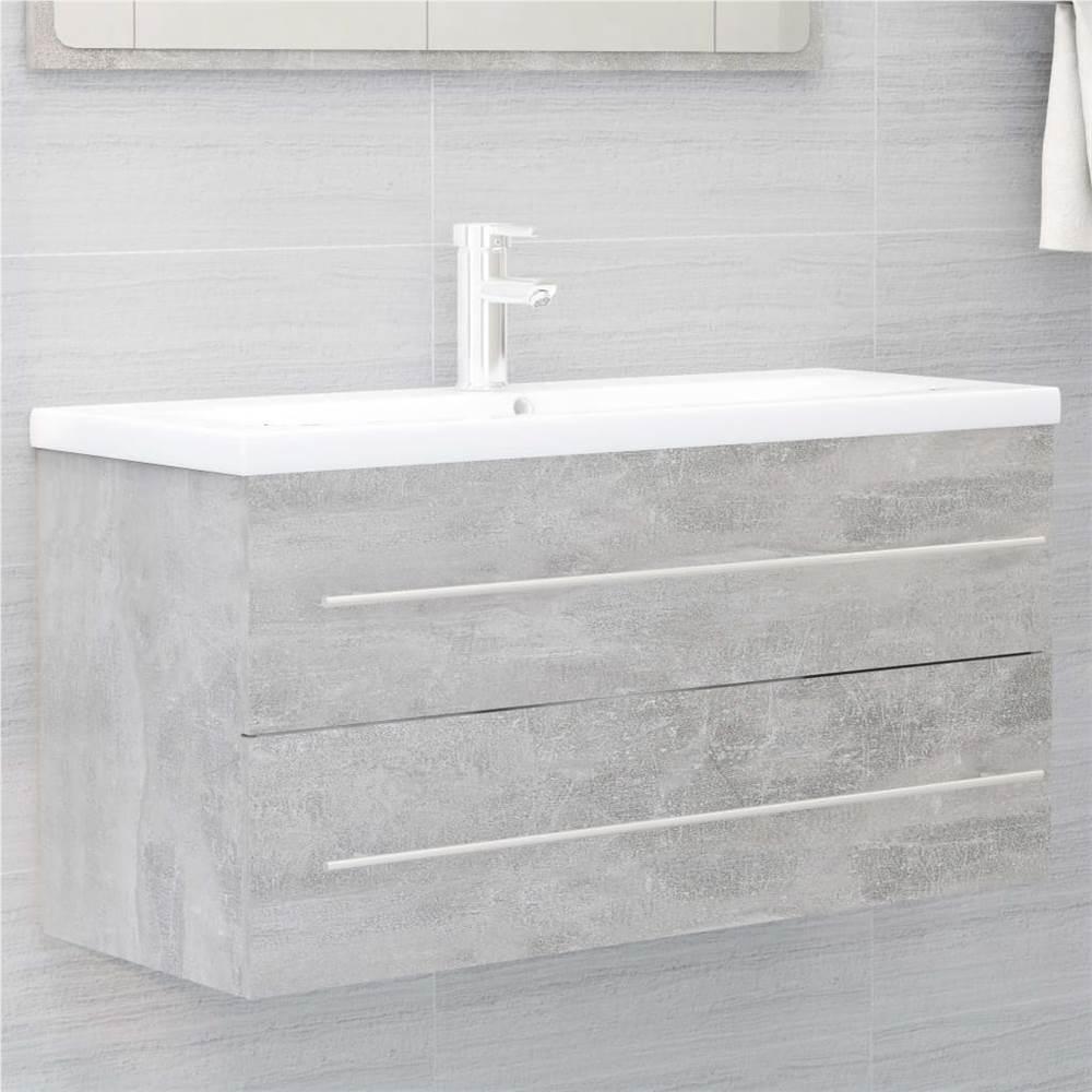 Sink Cabinet Concrete Grey 100x38.5x48 cm Chipboard