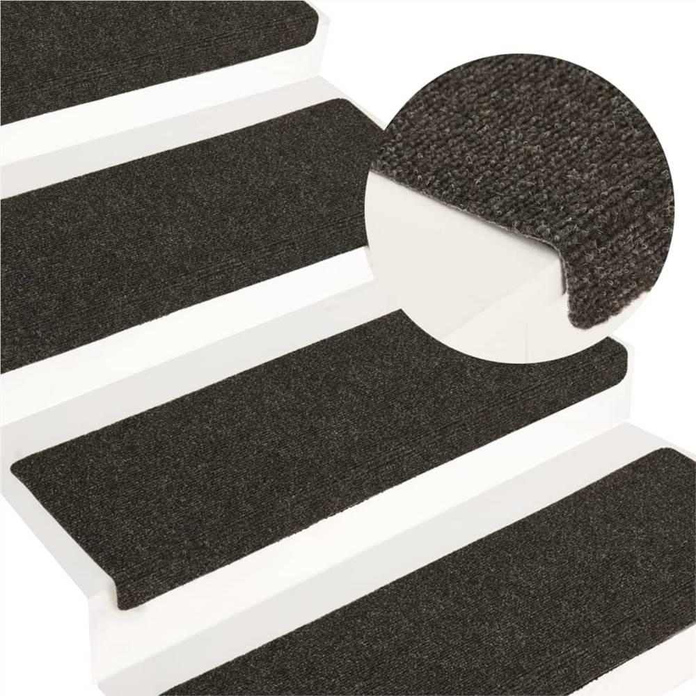 Stair Mats 15 τεμ. Διατρητική βελόνα 65x25 cm Γκρι