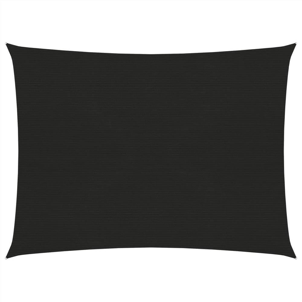 Sunshade Sail 160 g/m² Black 5x6 m HDPE