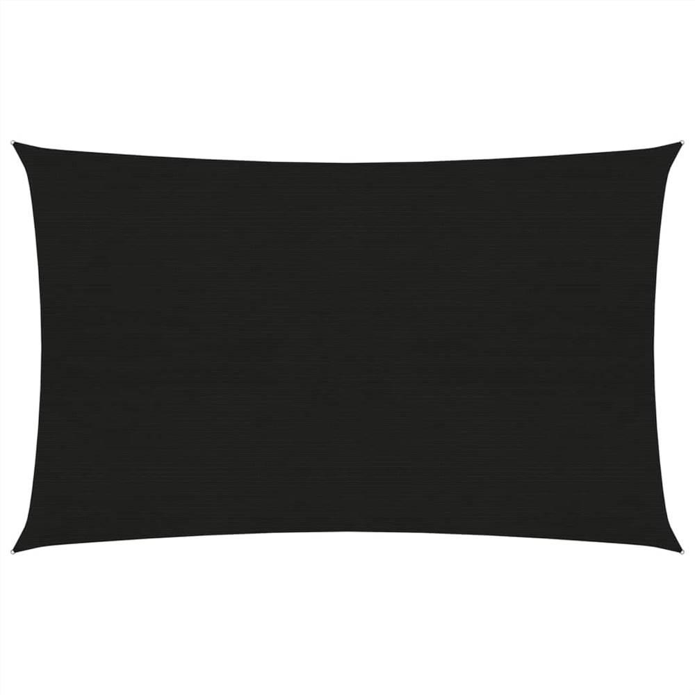 Sunshade Sail 160 g/m² Black 5x7 m HDPE