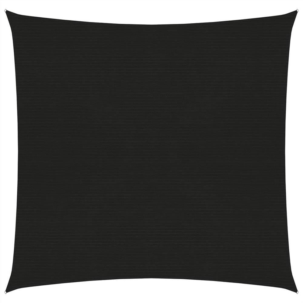 Sunshade Sail 160 g/m² Black 6x6 m HDPE