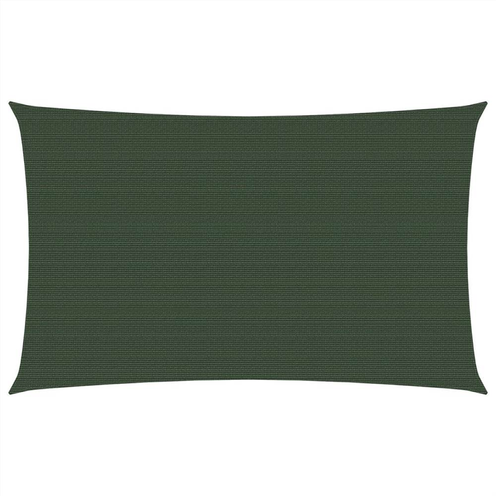 Sunshade Sail 160 g/m² Dark Green 3x6 m HDPE