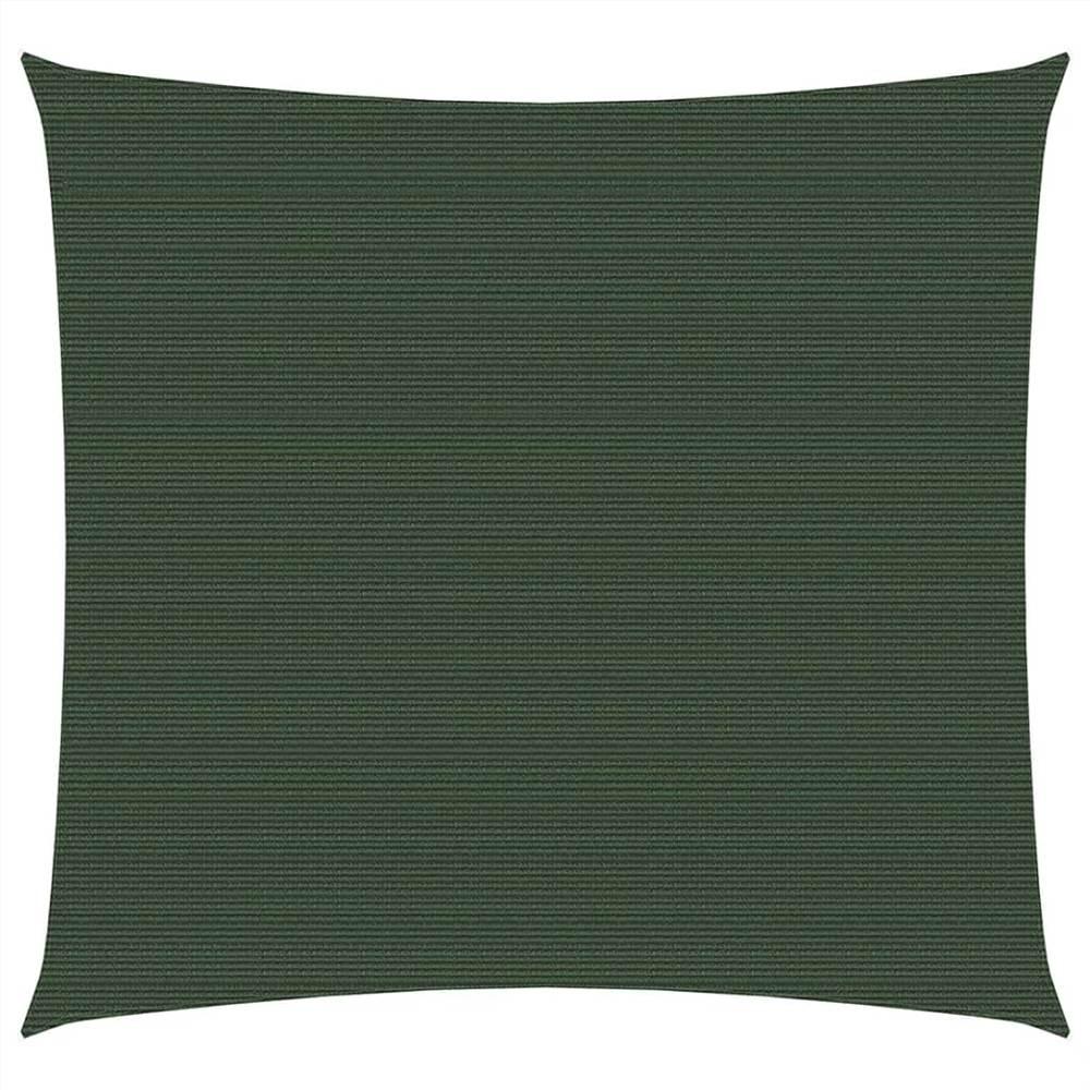 Sunshade Sail 160 g/m² Dark Green 6x6 m HDPE
