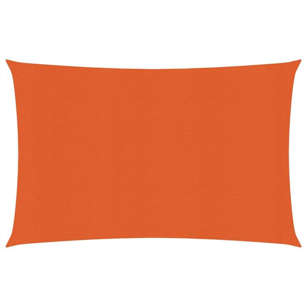 Sunshade Sail 160 g/m² Orange 2.5x3.5 m HDPE