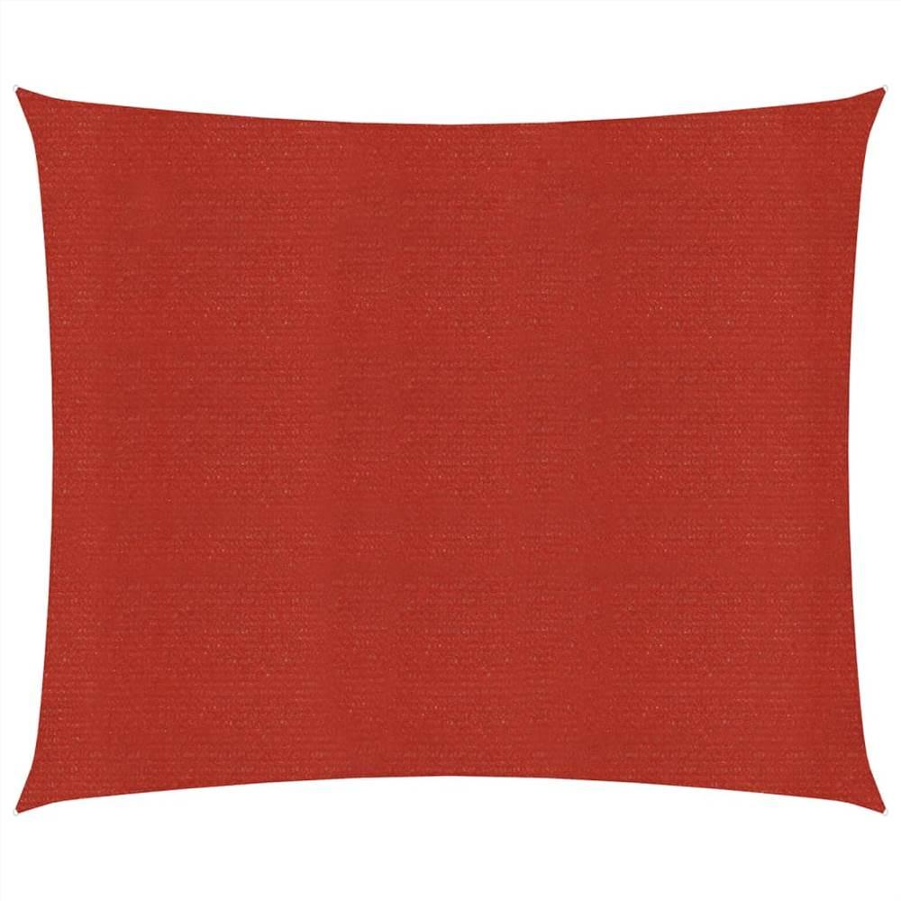 Sunshade Sail 160 g/m² Red 3x3 m HDPE