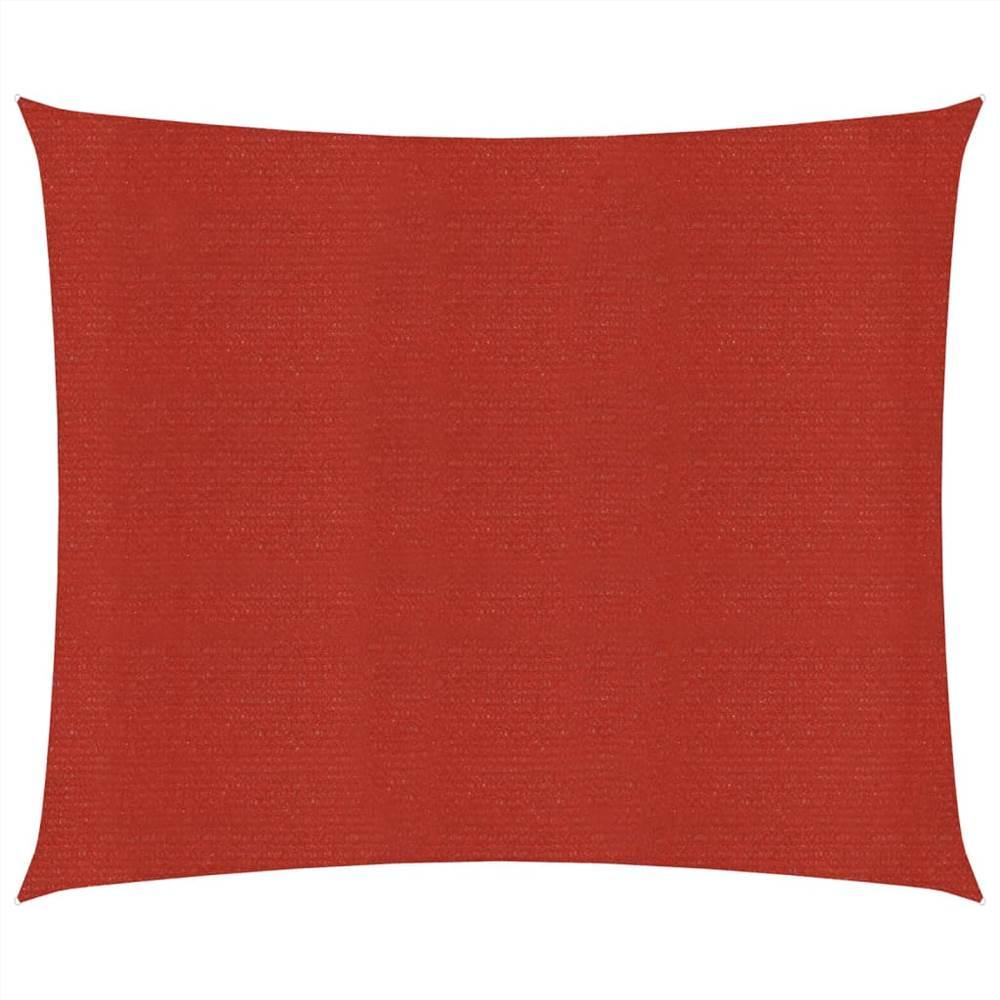 Sunshade Sail 160 g/m² Red 5x5 m HDPE