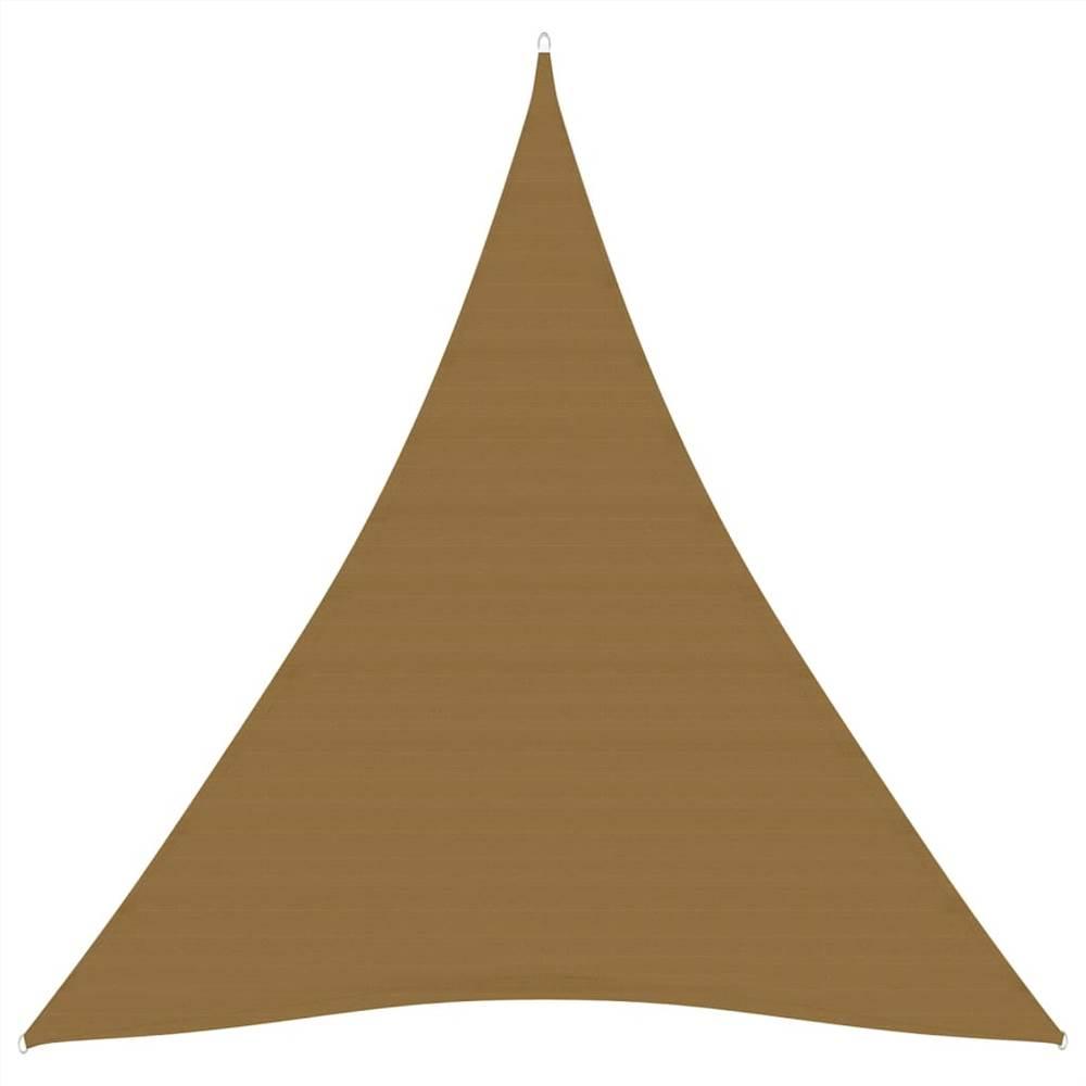 Sunshade Sail 160 g/m² Taupe 5x6x6 m HDPE