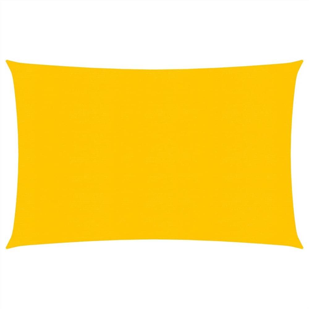 Sunshade Sail 160 g/m² Yellow 2.5x3.5 m HDPE