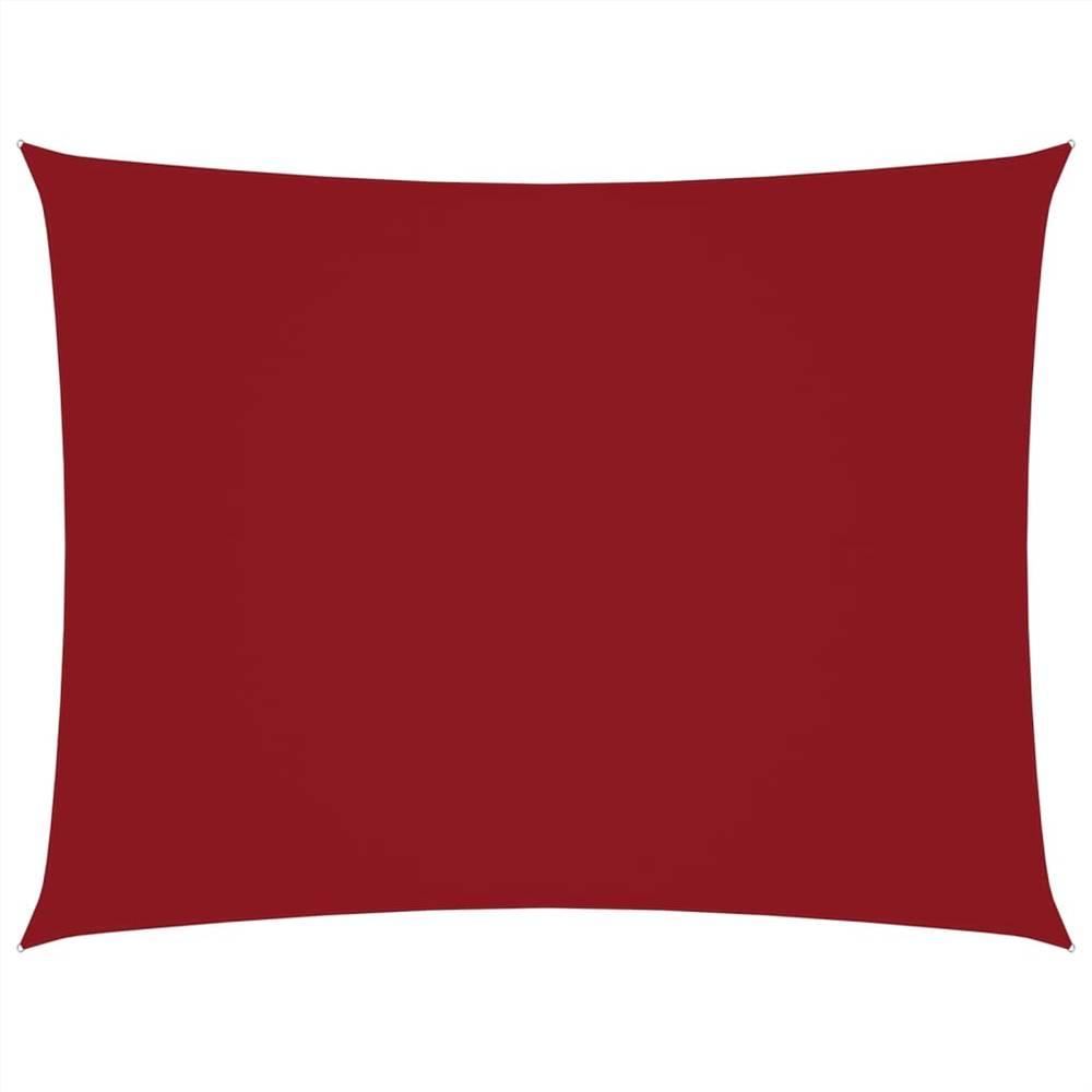 Sunshade Sail Oxford Fabric Rectangular 3x4 m Red