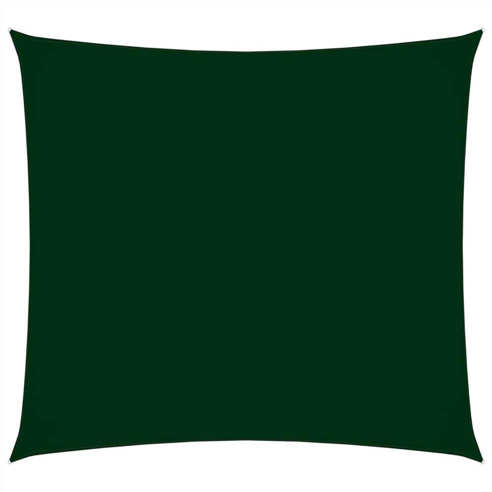 Sunshade Sail Oxford Fabric Square 3.6x3.6 m Dark Green