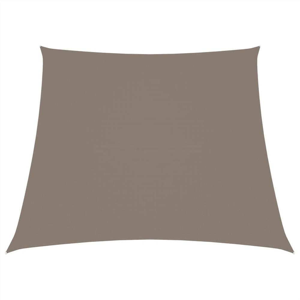 Sunshade Sail Oxford Fabric Trapezium 4/5x3 m Taupe