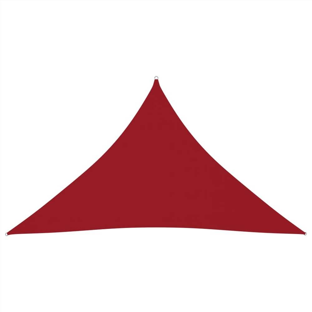 Sunshade Sail Oxford Fabric Triangular 2.5x2.5x3.5 m Red
