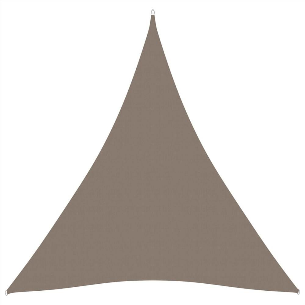 Sunshade Sail Oxford Fabric Triangular 3x3x3 m Taupe