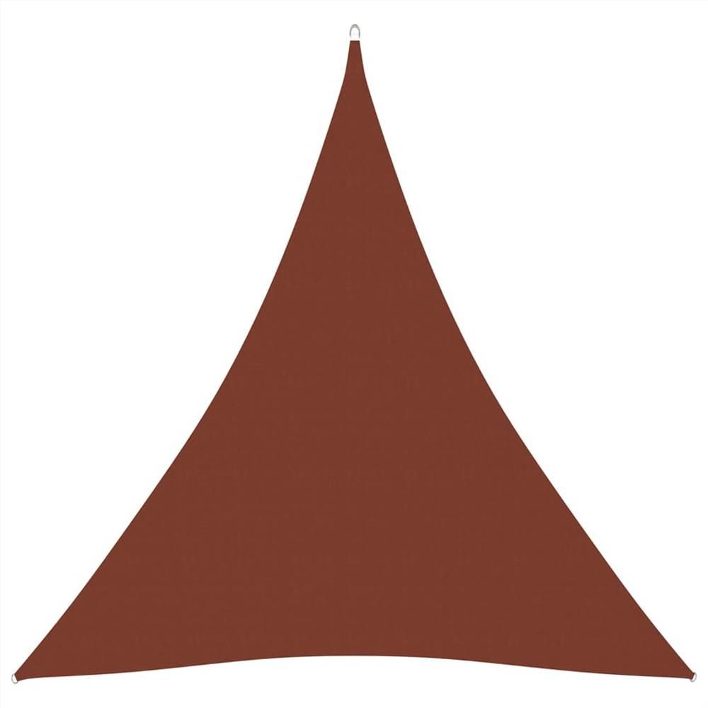 Sunshade Sail Oxford Fabric Triangular 3x3x3 m Terracotta