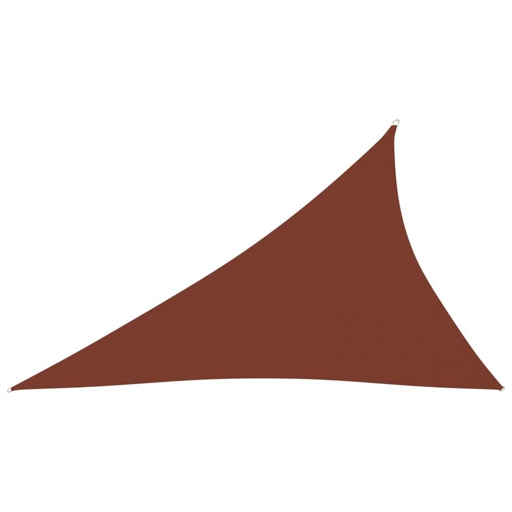 Sunshade Sail Oxford Fabric Triangular 3x4x5 m Terracotta