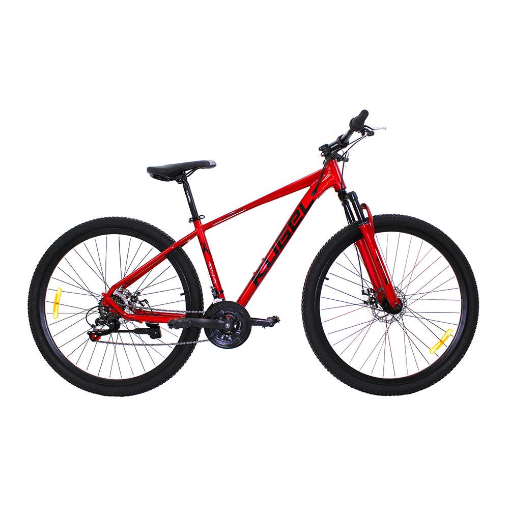KugelH-ハイブリッド29インチマウンテンバイクアルミニウム合金フレーム素材Shimanoギアフロントサスペンションとディスクブレーキ-赤