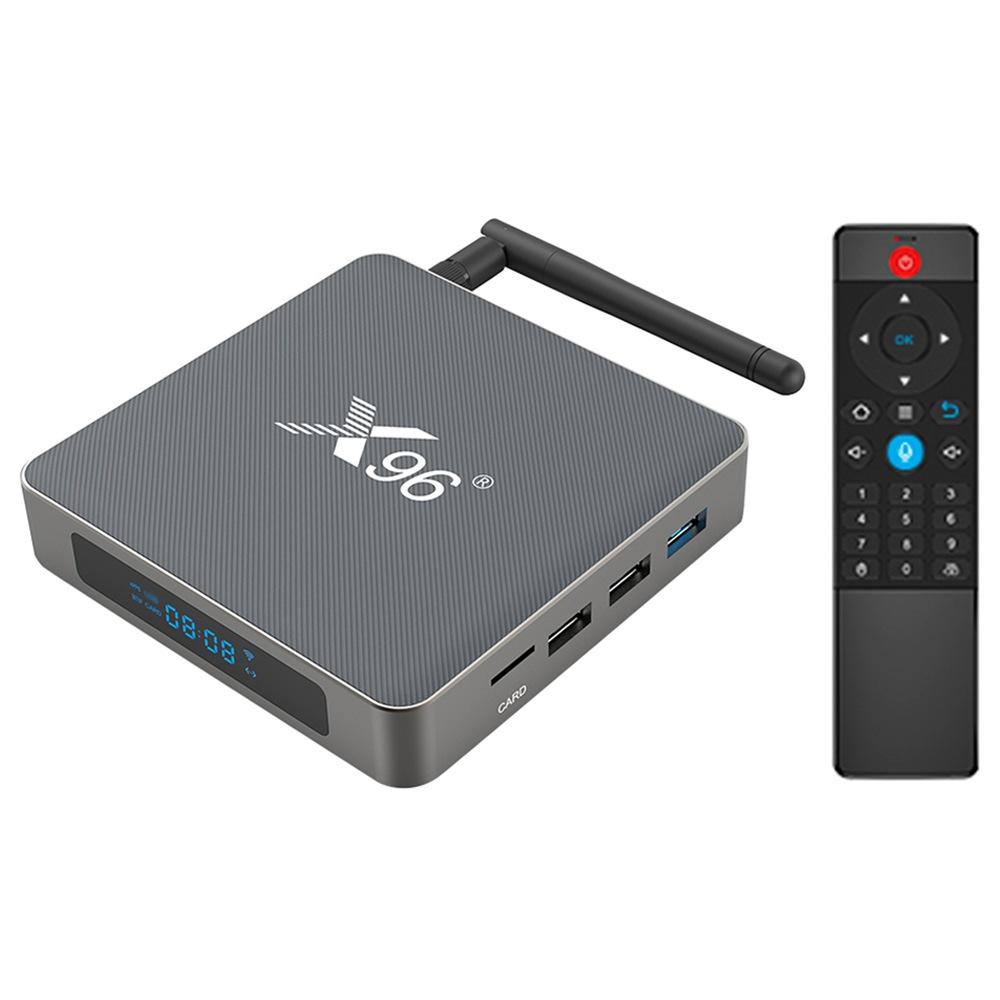 X96 X6 Android 11 TV BOX RK3566 négymagos 8GB RAM 64GB ROM 2.4G + 5G WIFI Gigabit LAN 4K HDR