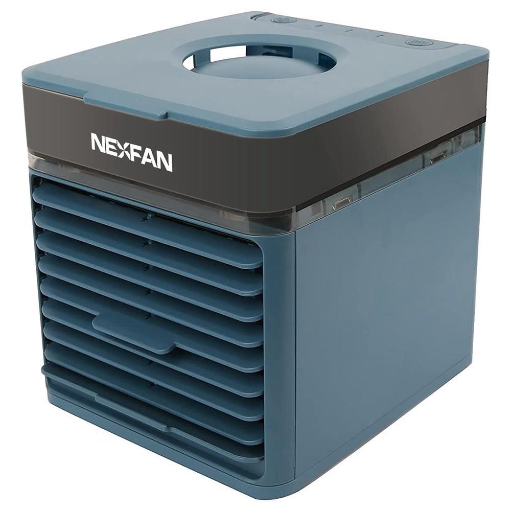 NexFan Портативный портативный многофункциональный вентилятор с быстрым охлаждением для кондиционирования воздуха Очищающий воздух Устранение запаха Три режима USB-зарядки УФ-версия для офиса для дома - синий