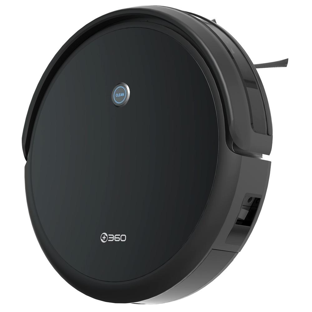 360C50スマートロボット掃除機掃除機掃除機モップ2600Pa吸引2600mAHバッテリー300ml電気水タンクアプリリモコン-黒