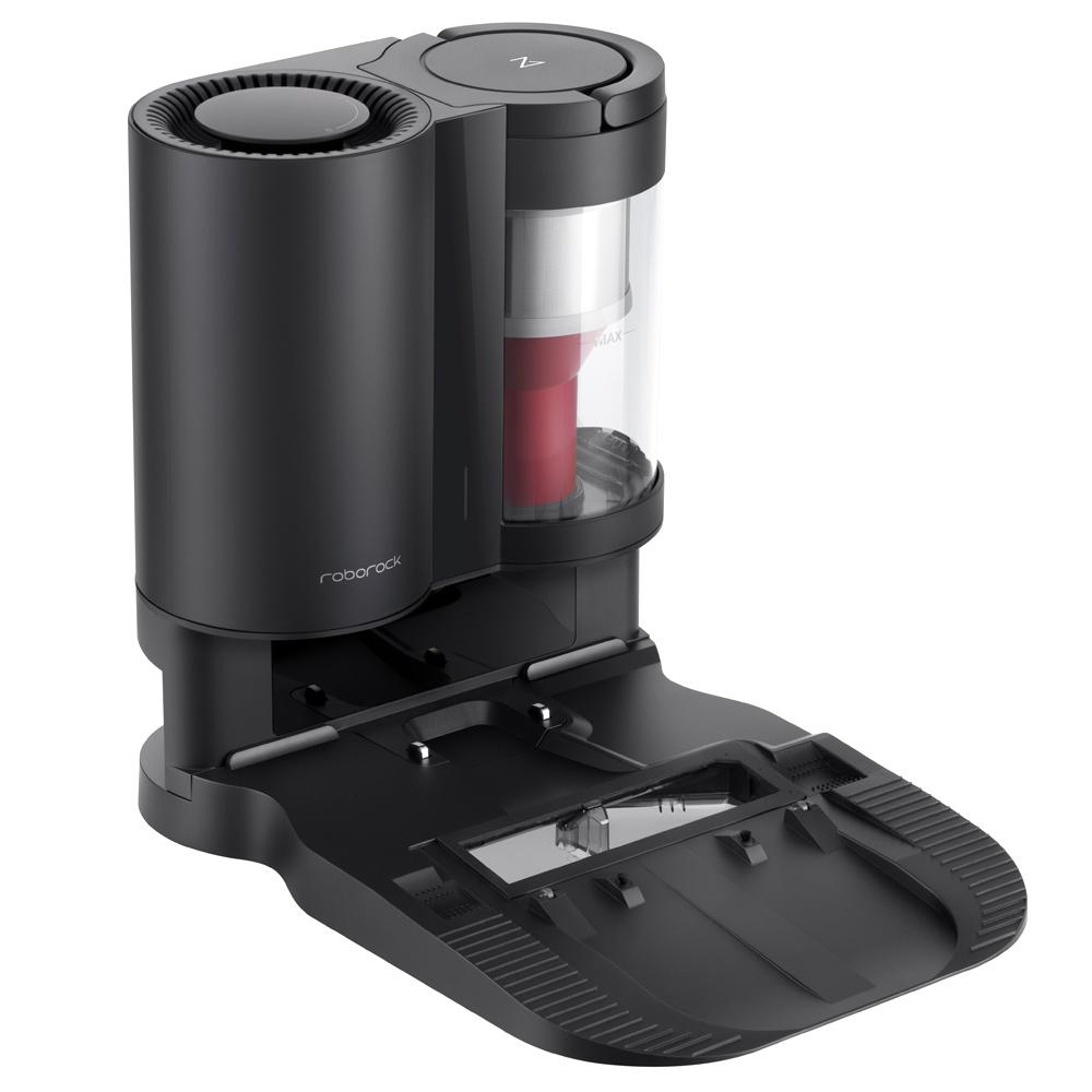 Roborock Automatikusan üres dokkoló Roborock S7 automatikus szívóállomáshoz Intelligens porgyűjtő Állandó szívóteljesítmény 1.8 literes porzsák támogató allergiaápolás Porzsákkal vagy ciklonnal működik - fekete