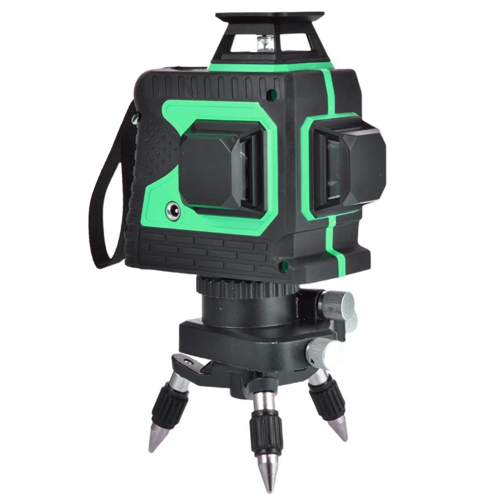 Atralife 12 vonalas lézeres szint automatikus vízszintes vonallal, 3D vízszintes és függőleges - zöld