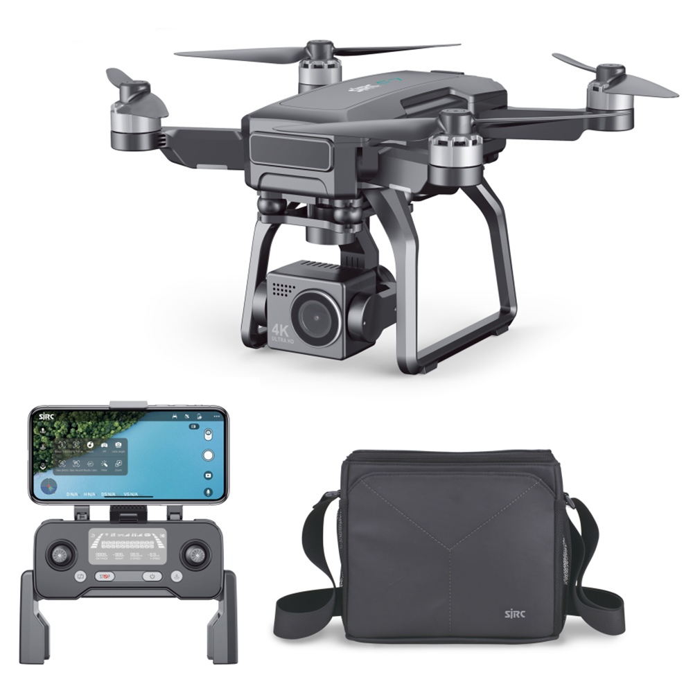 SJRC F7 4K Pro GPS 5G WIFI 3KM FPV 3-Axis Mechanical Gimbal Optical Flow Brushless Drone - Two Μπαταρίες με τσάντα