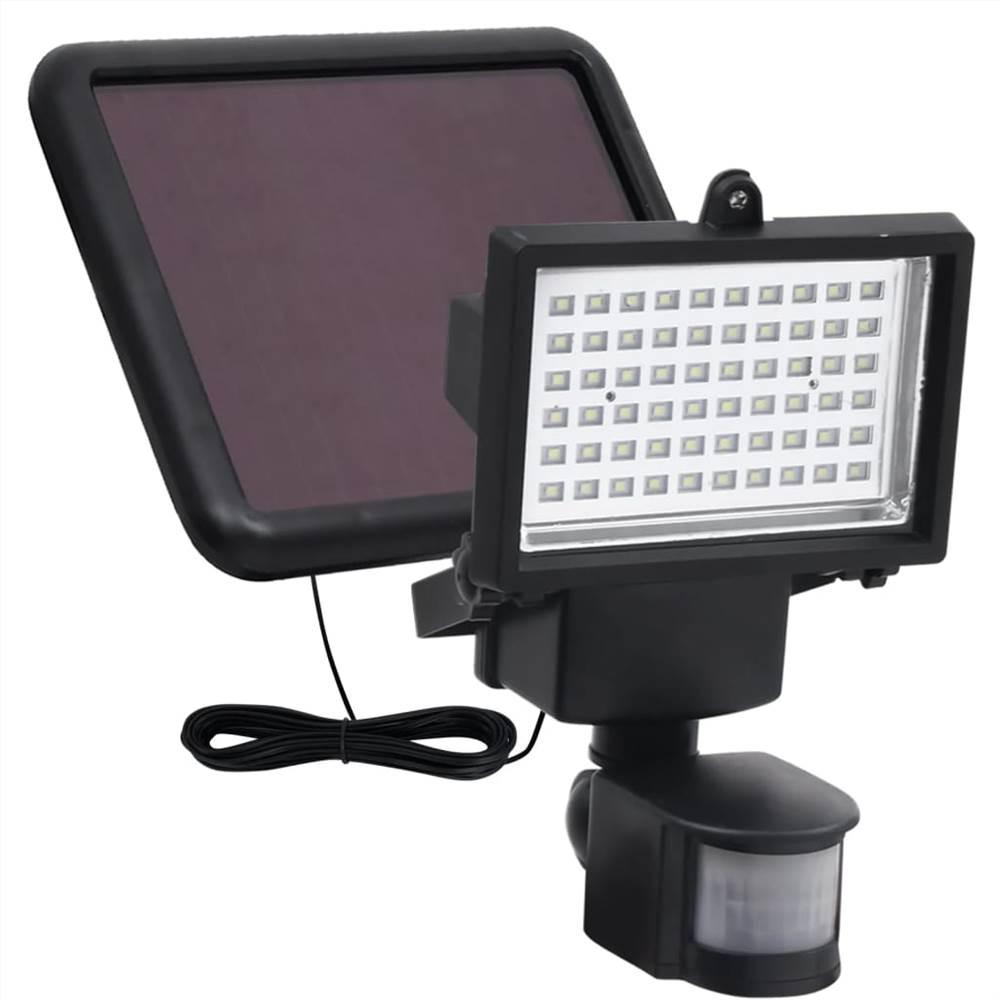 Garden Solar Powered LED Spotlight with Sensor Black