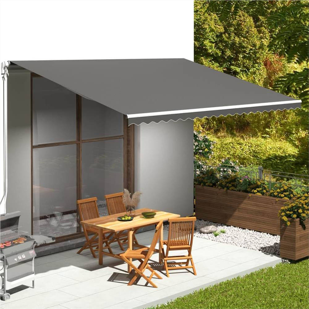 Replacement Fabric for Awning Anthracite 5x3.5 m