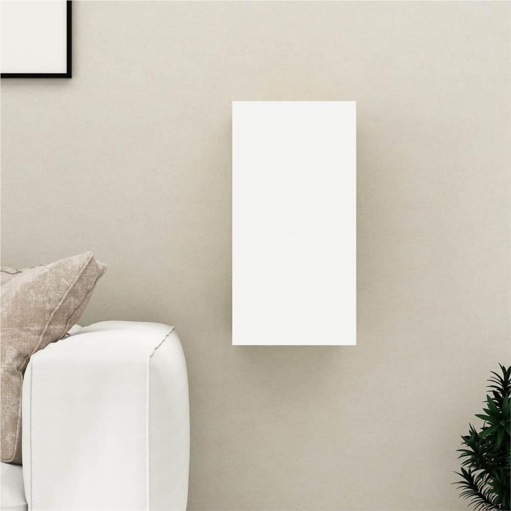 Meuble TV Blanc 30.5x30x60 cm Aggloméré