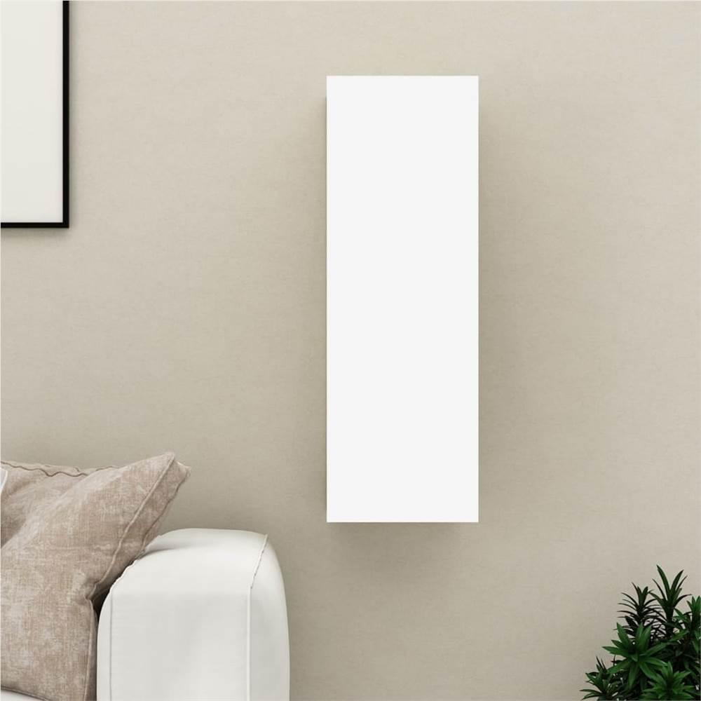 TV Cabinet White and Sonoma Oak 30.5x30x90 cm Chipboard