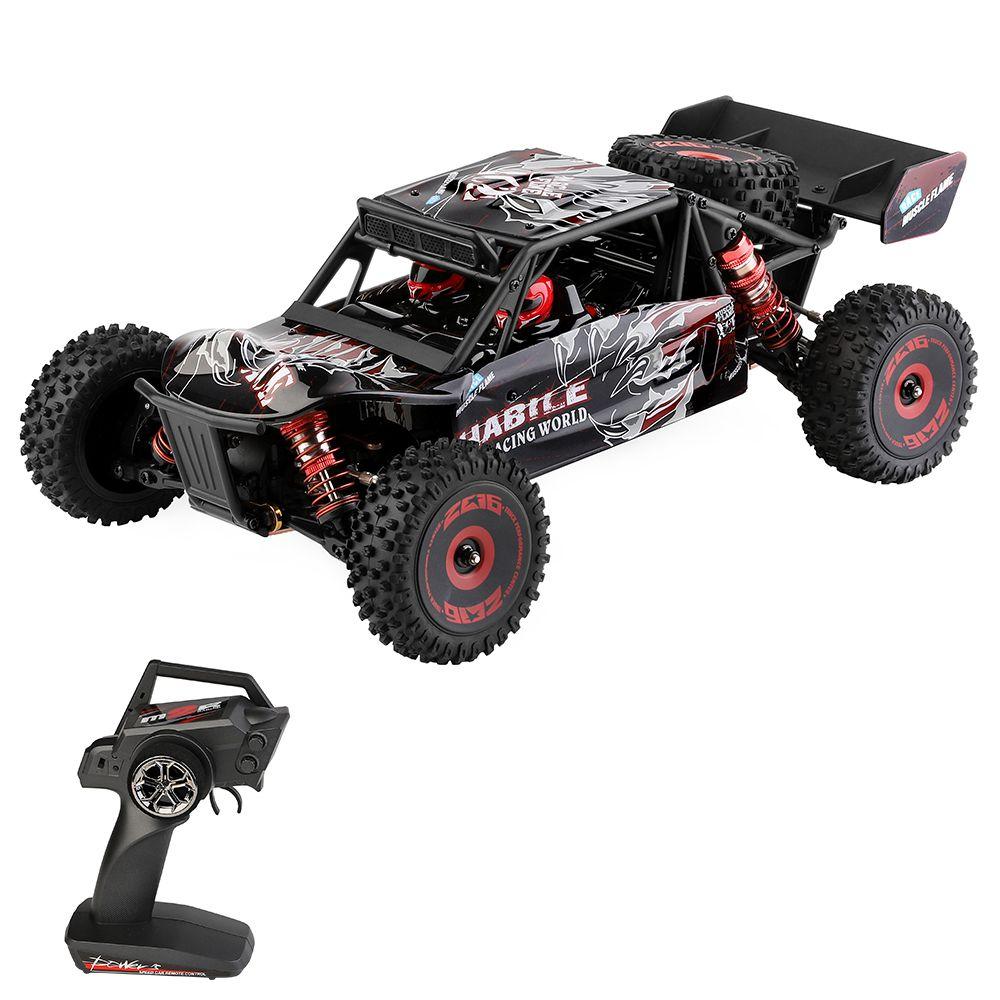 Wltoys 124016 1/12 2.4G 4WD 75km/h Telaio in metallo senza spazzole fuoristrada Desert Truck RC Car