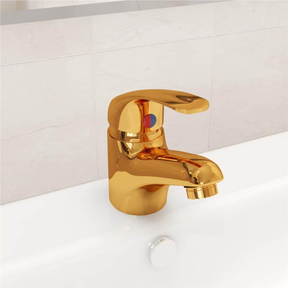 Basin Mixer Tap Gold 13x10 cm