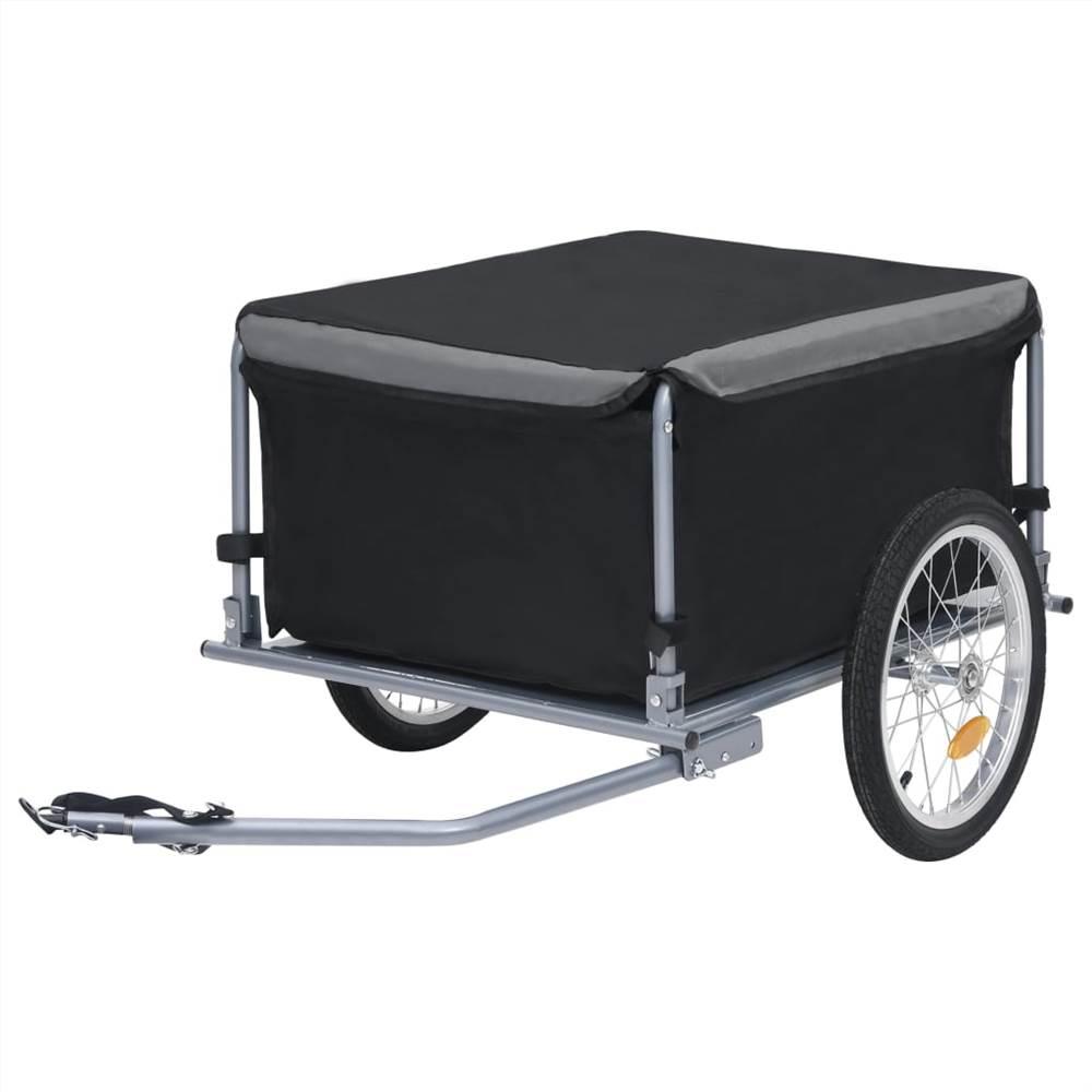 自転車貨物トレーラー黒と灰色65kg