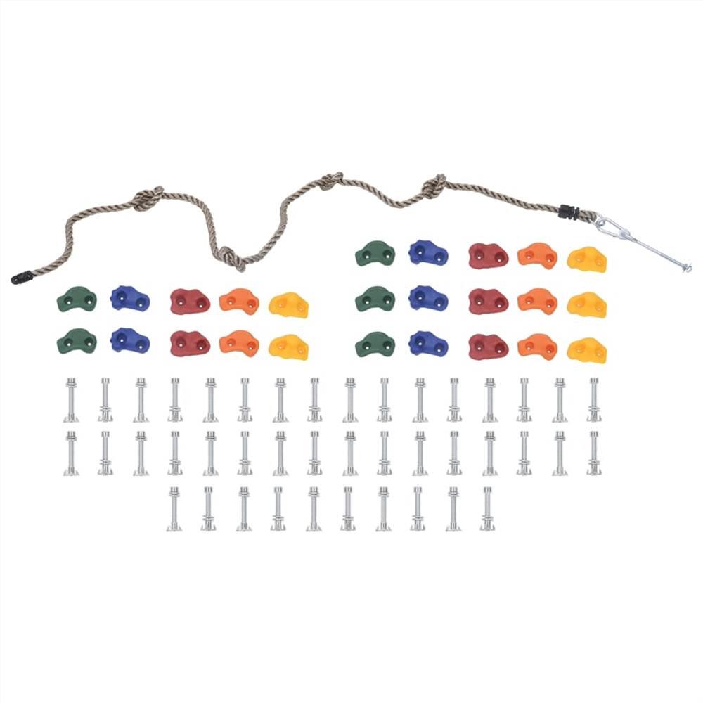 Klettersteine mit Seil 25 Stück Multicolour