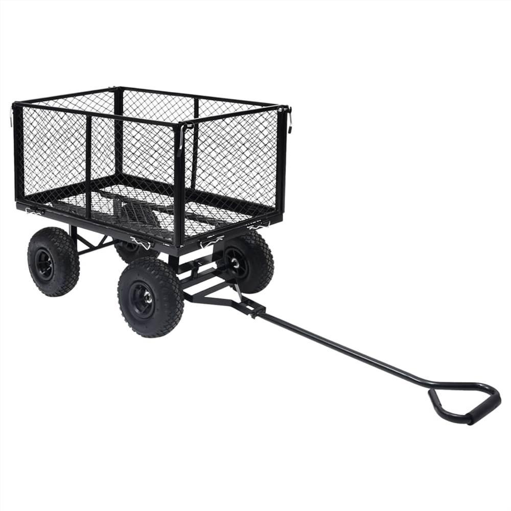Garden Hand Trolley Black 350 kg