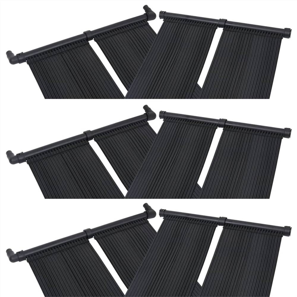 Solar Pool Heater Panel 6 pcs 80x310 cm