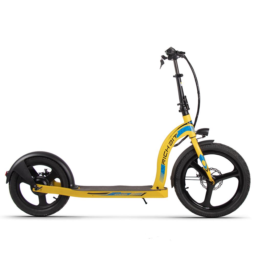 RICH BIT H100 Folding Electric Kick Scooter Scooter 36V*10Ah Μπαταρία μπροστινή 20 ιντσών Πίσω 16 ιντσών Ενσωματωμένο πλαίσιο αλουμινίου από κράμα τροχού 350W Μοτέρ - Κίτρινο