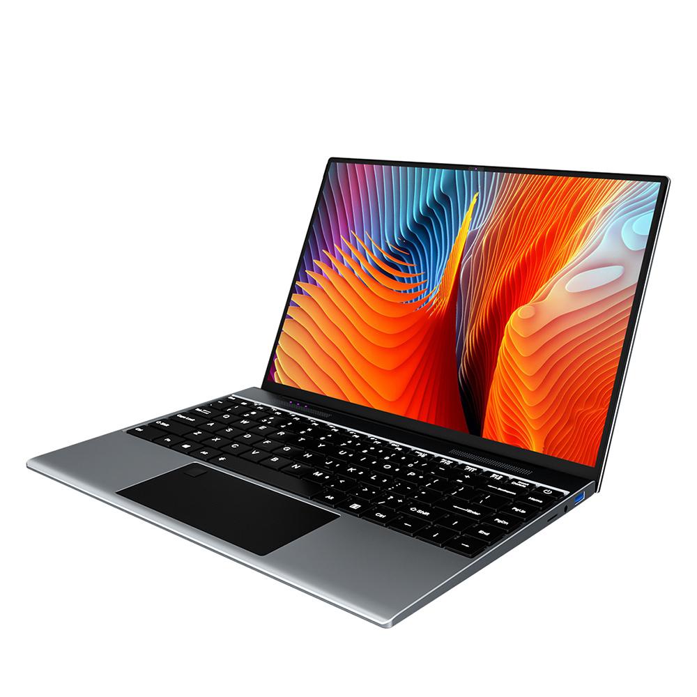 KUU YOBOOK แล็ปท็อป Intel Pentium J3710 Processor นิ้ว 13.5 FHD IPS หน้าจอ 3000x2000 ความละเอียด Metal Shell Office Notebook 8GB RAM 256GB SSD Backlit Keyboard การจดจำลายนิ้วมือ Windows 10 - สีเทาเงิน