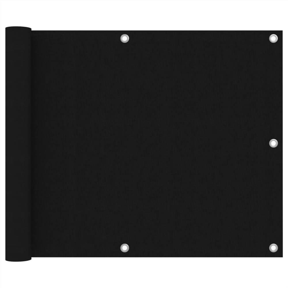 Balkonabtrennung Schwarz 75x400 cm Oxford-Gewebe