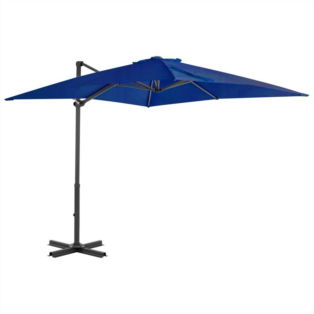 Cantilever Umbrella with Aluminium Pole Azure Blue 250x250 cm