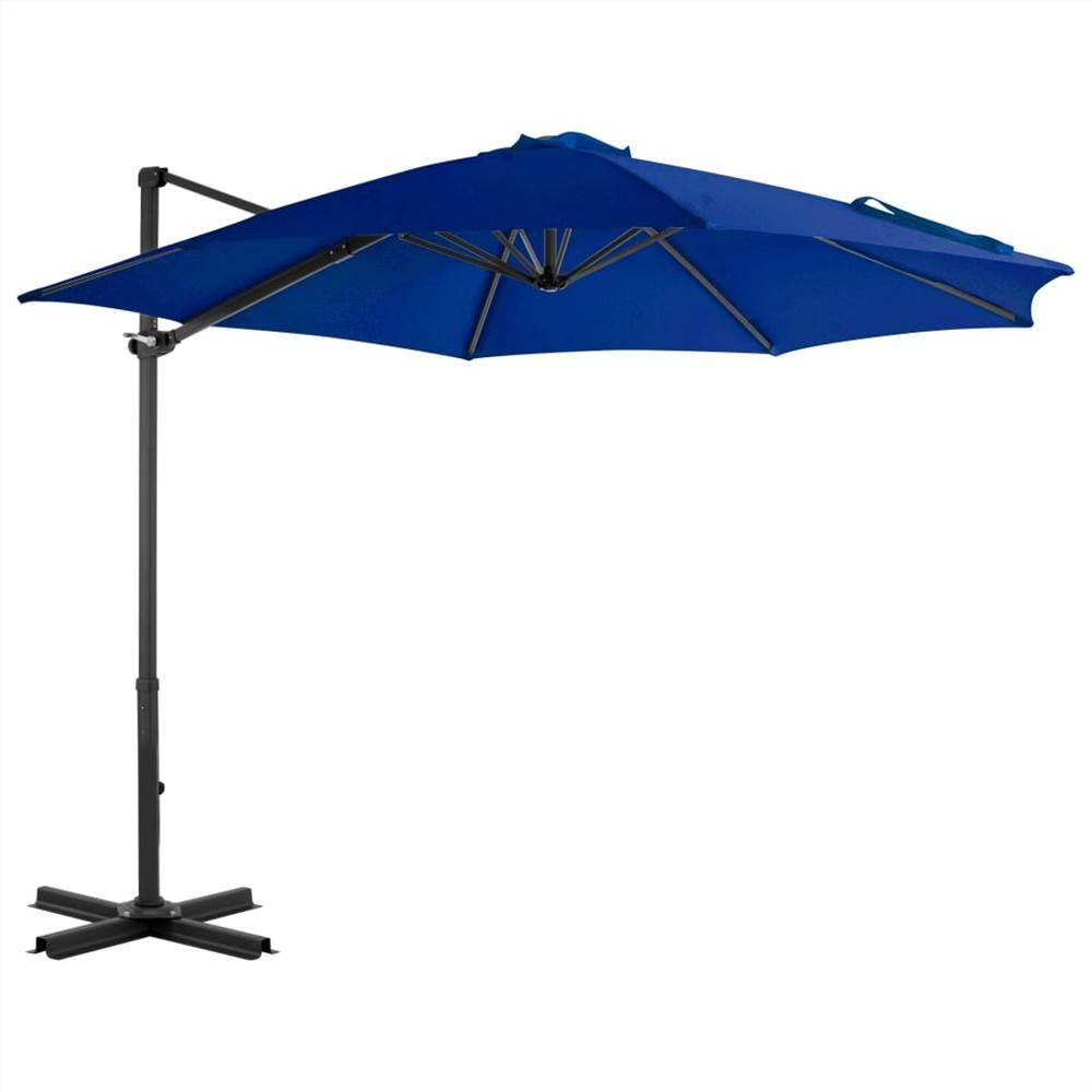 Cantilever Umbrella with Aluminium Pole Azure Blue 300 cm