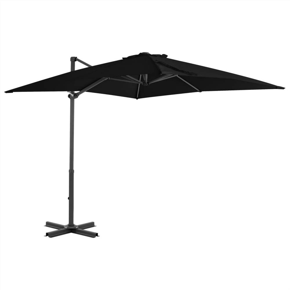 Cantilever Umbrella with Aluminium Pole Black 250x250 cm