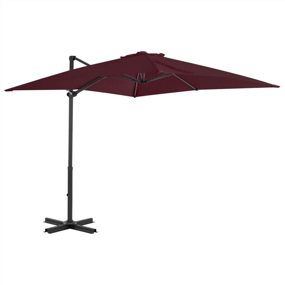 Cantilever Umbrella with Aluminium Pole Bordeaux Red 250x250 cm