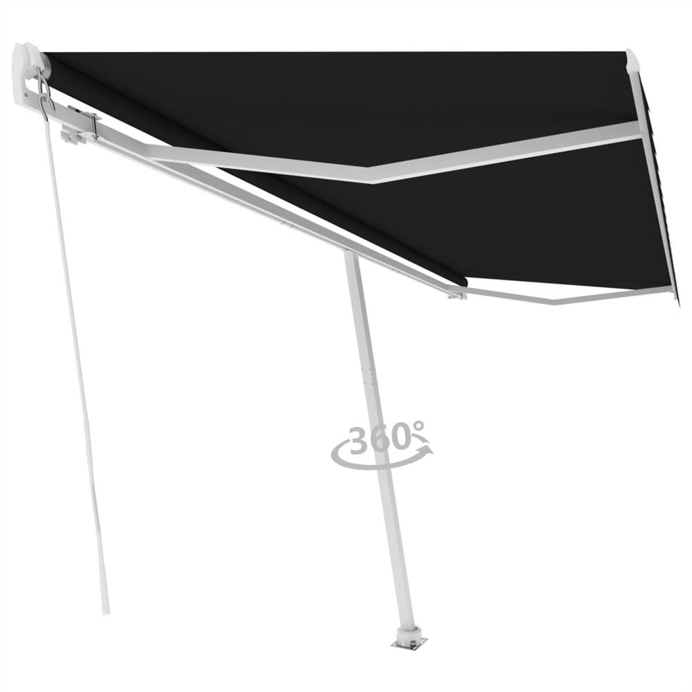 Freestanding Manual Retractable Awning 500x300 cm Anthracite