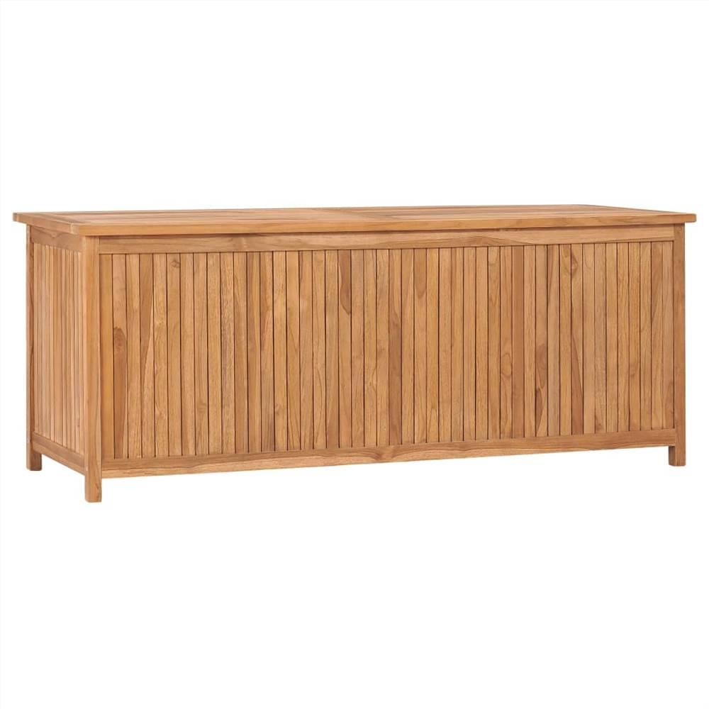 Garden Storage Box 150x50x58 cm Solid Teak Wood