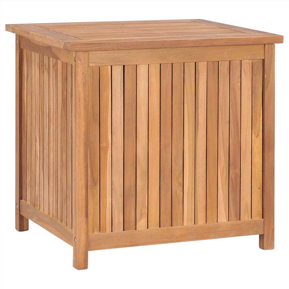 Garden Storage Box 60x50x58 cm Solid Teak Wood