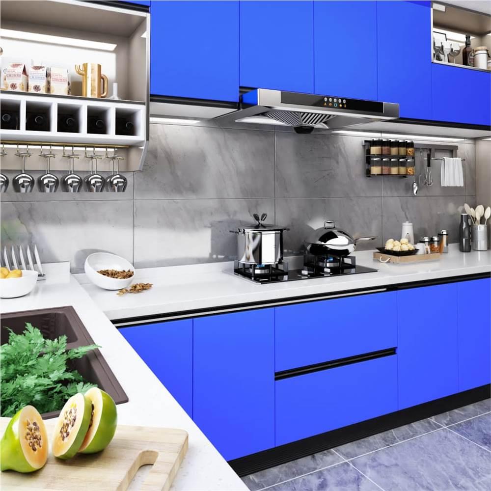 Selbstklebende Möbelfolie Hochglanz Blau 500x90 cm PVC