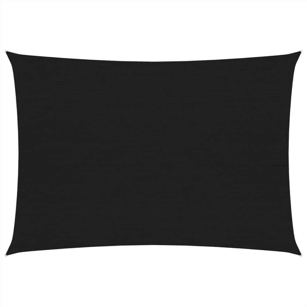 Sonnensegel 160 g/m² Schwarz 2,5x3,5 m HDPE