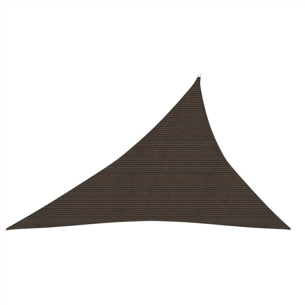 Sonnensegel 160 g/m² Braun 4x5x6,8 m HDPE