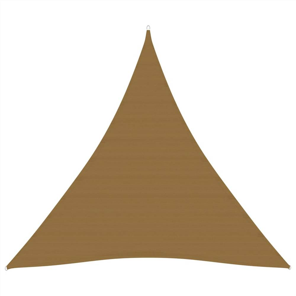 Sonnensegel 160 g/m² Taupe 3,6x3,6x3,6 m HDPE